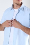 Selected SLHREGNEW-LINEN SHIRT SS CLASSIC W Skyway