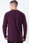 Only & Sons Elgin Life Longy LS T-shirt Winetasting