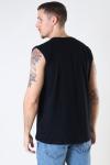 Denim project DP No Sleeve Tee 001 Black