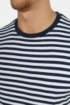 Basic Brand T-shirt Striped Navy/White