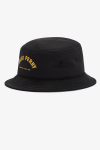 Fred Perry ARCH BRANDED BUCKET HAT 102 Black