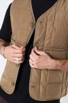 Jack & Jones JPRBLAROCCO QUILTED GILET Dark Coat Khaki