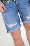 Only & Sons Ply Damage Shorts Blue Denim