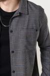 Clean Cut Copenhagen Jack Stretch Overshirt Brown Check