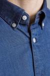 Jack & Jones JPRBLALOGO STRETCH DENIM SHIRT L/S STS Medium Blue Denim SLIM FIT
