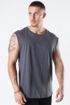 TB1562 Open Edge Sleeveless T-shirt Dark Shadow