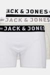 Jack & Jones Sense 3-Pack Boxershorts Light Grey Melange/Black & White