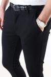 Denim Project Ponte Roma Plain Pants Black