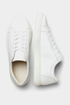 Selected SLHEVAN LEATHER TRAINER B NOOS White