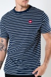 Kronstadt Timmi Organic/Recycled striped tee Navy / White