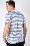 Kronstadt Timmi Organic/Recycled striped tee White / Navy