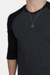 Raglan 3/4 sleeve Charcoal/Black