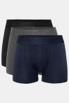 Resteröds Bambu 3-Pack Gunnar Boxershorts Black Navy Grey