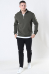 Only & Sons Ceres Life Half Zip Sweat Olive Night