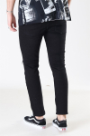 Denim Project Mr. Red Knee Cut Jeans Black