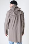 Rains Long Jacket 17 Taupe