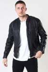 Gabba Bailey One Leather Jacket Black
