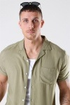 Only & Sons Silo Solid Viscose Skjorte S/S Dried Herb