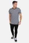 Basic Brand T-shirt Striped Black/White