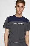 Jack & Jones JACSMITH LW SS TEE AND PANTS Asphalt / PANTS - ASPHALT