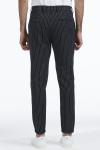 Les Deux Como Pinstripe Suit Pants Black/ White