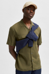 Selected SLHRELAXBILL SHIRT SS G Olive Night