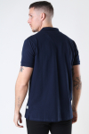 Kronstadt Albert Recycled cotton polo Navy