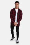 Urban Classics TB297 Checked Flanell Skjorte Black/Burgundy