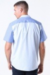 Woodbird Rant Cuba Patch Skjorte White/Blue