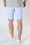 Kronstadt Hector Oxford Stripe Shorts White / Light Blue