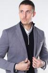 Selected Slim Jim Flex Blazer Light Grey Melange