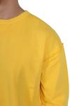 Oversized Open Edge Crew Sweat Chrome Yellow