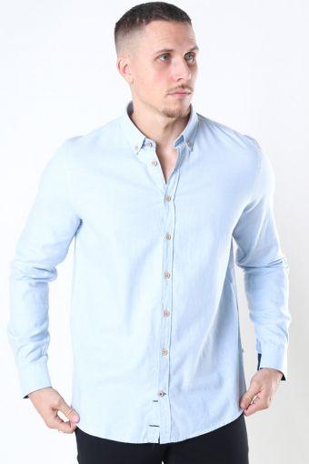 Johan Diego Cotton Skjorte Light Blue
