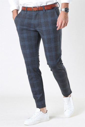 Mark Kamp Tap Check Pants Dress Blues