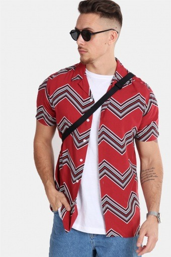 Jonathan Skjorte Trend Brick Red