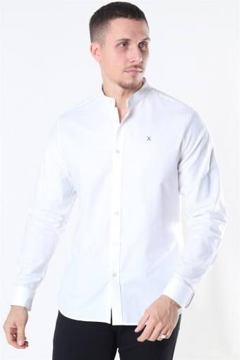 Oxford Stretch Mao L/S Skjorte White