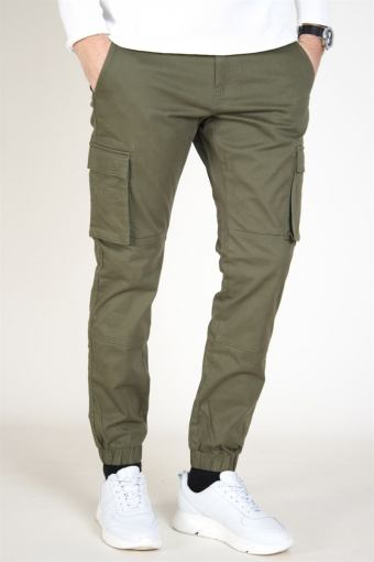 Cam Stage Cargo Cuff Pants Olive Night