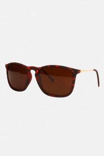 Fashion 1483 WFR  Brun Havana med Guldstænger Solbriller