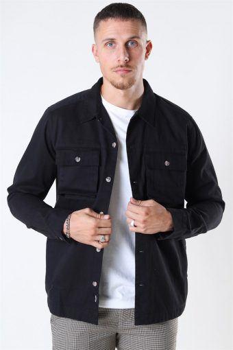 Ilvio Heavy Twill Overshirt Black