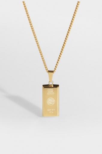 "Goldbar halskæde ""Guld""."