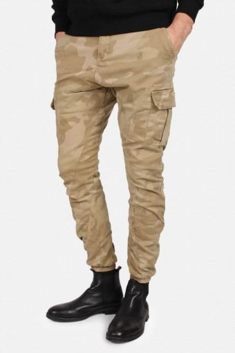 Tb1611 Camo Cargo Jogging Pants Sand Camo