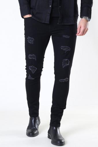 Warp Life Ski Demage Jeans Black