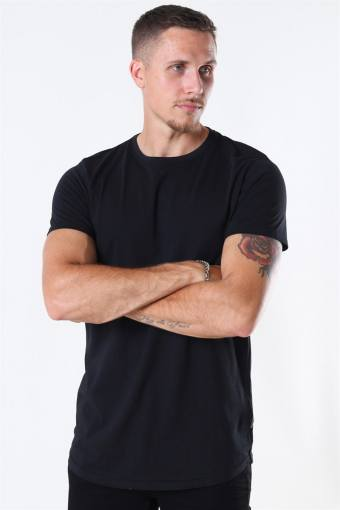 Dew SS Long T-shirt Black
