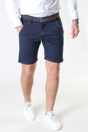 Louis Navy Shorts inkl. bælte