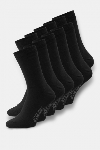 Jack & Jones Socks 10 Pack Black