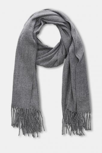 Solid Woven Halstørklæde Grey Melange