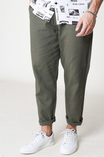 Leo Linen Mix Buks Olive Night