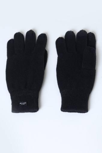 Clas Fingerforet Strikhandske Black