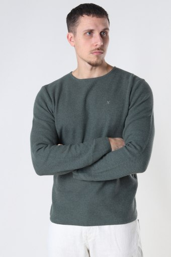 Lauritz Recycled Crew Dusty Green Mel