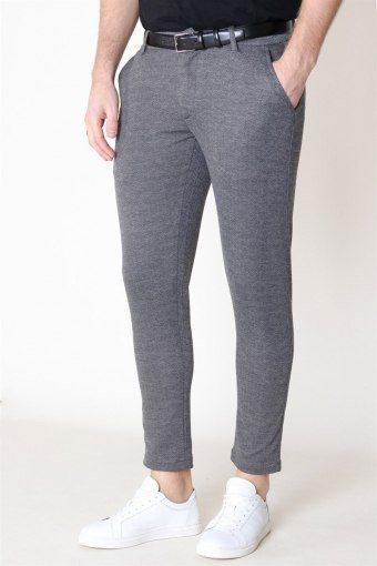 Dave Barro Pants Medium Grey Melange